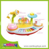 High quality baby plastic musical toy piano with microphone