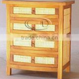 BAMBOO CHEST 4 DRAWERS