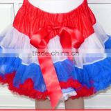 New-arrival summer baby dress blue and white and red pettiskirt baby tutu skirts soft chiffon with bowknot tutu sirkts dress