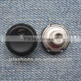 Fashion customized black alloy shank jeans button with high quality and competitive price