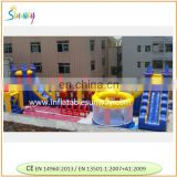 huge customized inflatable obstacle games