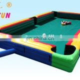 Commercial inflatable billiard ball / inflatable human billiards / inflatable sport game with factory price