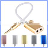 3.5mm AUX Audio Splitter Cable Earphone Headphone Adapter Male to Female