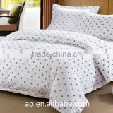 economic 4 star hotel motel white printed bedding cover set resort bedding set luxury bed linen set