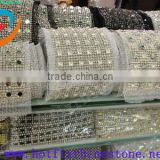0829L China supplier plastic mesh rhinestone trimming,sew on plastic rhinestone mesh trimming whloesale
