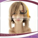 short two color synthetic cospaly boys hair wig