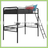 Factory Production Adult Metal Bunk Bed Black Twin Loft Bunk Bed