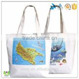 souvenir printed cotton reusalbe bag with printed design                                                                         Quality Choice