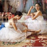 high quanlity favourable price hot sell beautiful ballet girl's dream oil painting canvas artwork