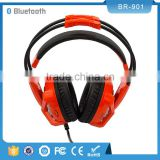 Soft Leather Ear Cup Handsfree Headband Headset Wired Stereo Headphones Built-in Mic for Phones Tablet Computer