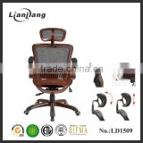 Comfortable modern office executive chair with adjustable lumbar