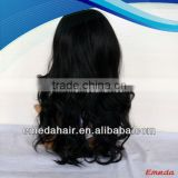 factory price silk top swiss lace indian hair full lace remy wigs with bangs