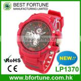 LP1370 Hot product pantone color pu strap dual time vogue watch