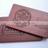 card shaped wooden usb pendrive 8gb 16gb with engraved logo                                                                                                         Supplier's Choice