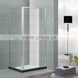 Hot sale modern shower enclosure and hinge open style 6mm thickness glass shower room