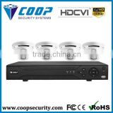 New Products On China Market Surveillance CVI System 4ch dome kit WDR CCTV Camera HD-CVI 1080P Dvr Kit
