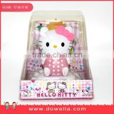 2016 Beautiful Plastic Solar panel hello kitty toy For car For Decoration