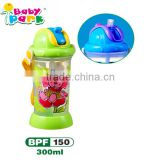 nice cartoon baby drinking bottle