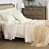 French style antique king size upholstered wooden luxury hotel bed