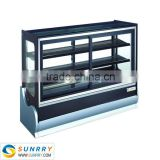 Commercial high quality bakery counter top display with shelves