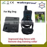 Rechargeable and waterproof fencing sport equipment & 300 meters remote dog trainig collar