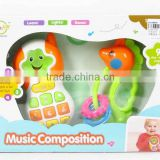 Item No.AL018826,Musical Instrument Set,with light and music,Toy Mobile phone and bell,Toy for baby