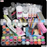 42 Acrylic Powder Brush Glitter Clipper File Nail Set