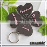 Cheapest Promotional soft PVC custom cute shape keychains with custom embossed logo