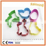 5 Pcs Easter Shape Cookie Cutter Bunny Chicken Egg Cake Decorating Metal Mould