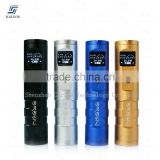 New product blue and silver kaluos babel e cigarette with 26650 50w mod