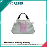 OEM High Quality Reusable Beige 600D Polyester Beach Bag for American Market