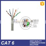 HUIYUAN 24AWG 0.5mm pure copper BC OFC conductor CAT6 UTP LAN network communication cable