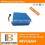 Factory direct saling, big capacity UPS battery, 48V16Ah lithium ion recharge battery pack
