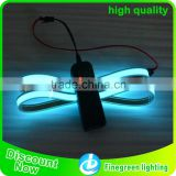 1cm 1m outdoor electroluminescent tape with battery inverter, el strip, waterproof EL tape/strip