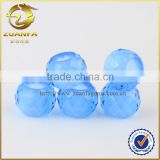 beautiful faceted cut bead for bracelet /neckalce making aquamarine glass beads                                                                                                         Supplier's Choice