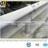 hot roll high-quality highway guard rail china supplier, spraying plastic steel used guardrail for sale