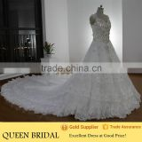 Real Works Luxury Heavy Beaded Crystals Saudi Arabian Wedding Dress in Dubai