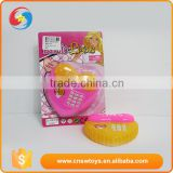 Battery operated heart-shaped plastic telephone toy with light &music