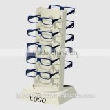 Shenzhen factory 5 tiers innovative design acrylic sunglass rack/acrylic sunglass stand/acrylic eyewear display with logo