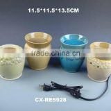 Porcelain aroma oil burner plate electric wax warmer without bulb
