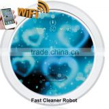 Newest WIFI smartphone App control wet and dry mopping robot floor cleaning machines / water cleaner machine
