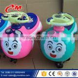 Factory wholesale children swing car/ plastic baby swing car/ 2015 outdoor cheap plastic toy cars