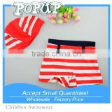Stripe sailor swimming trunks children swimsuit boy swimming trunks swimming cap baby infant swimming trunks 2 color