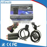 Realtime car GPS tracker with GPS/GSM/SMS tracking remote control wireless gps car tracker