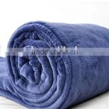 2015 Hot Sale 100%Polyester Solid Color Plain Dyed custom embroidery logo Coral Fleece blanket