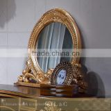 AB03-34 Antique Neoclassic Oval Mirror for Luxury Bedroom Sets-JLC Luxury Home Furniture