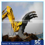 Excavator rotated grapple, hydraulic log grapple, Log Wood Grapple mechanical & hydraulic