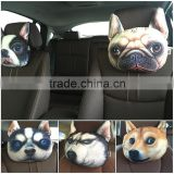 30*22cm print dog cat cushion cushion cover car neck supporter pillow headrest pillow cases