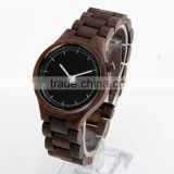 New Walnut Wooden Band Japan Movement Quartz Watch Sr626sw