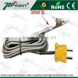 Teflon high temperature stand omega k type thermocouple green connector with plug for industrial use